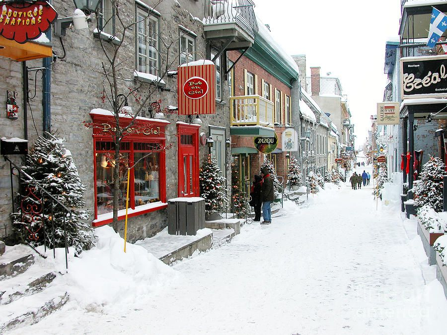 Quebec City In Winter Quebec City Winter Quebec City Canada City