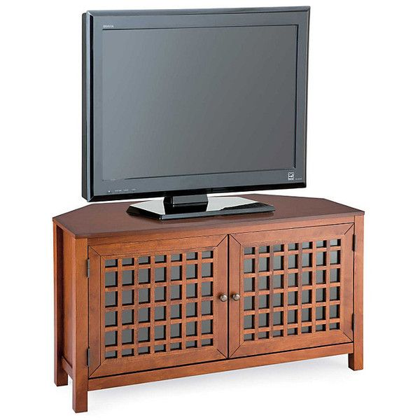 Narita Corner TV Console 535 CAD ❤ liked on Polyvore featuring