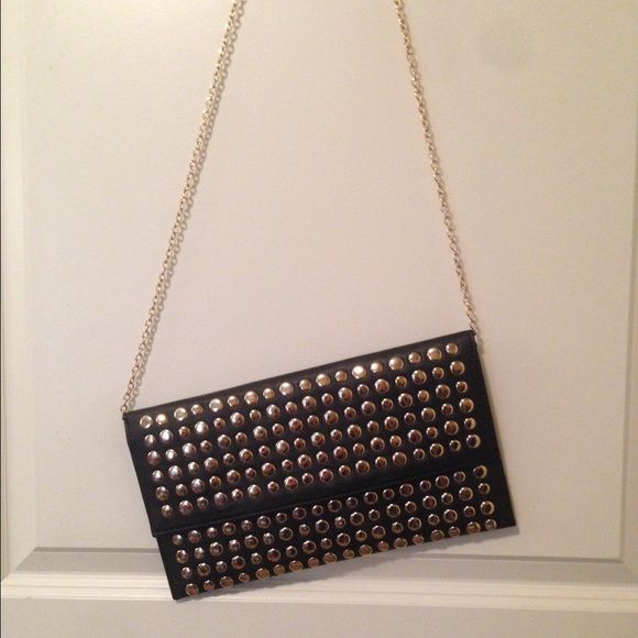 Mms Design Studio Purse Beautiful Designs Black With Gold Stud Detailing Never