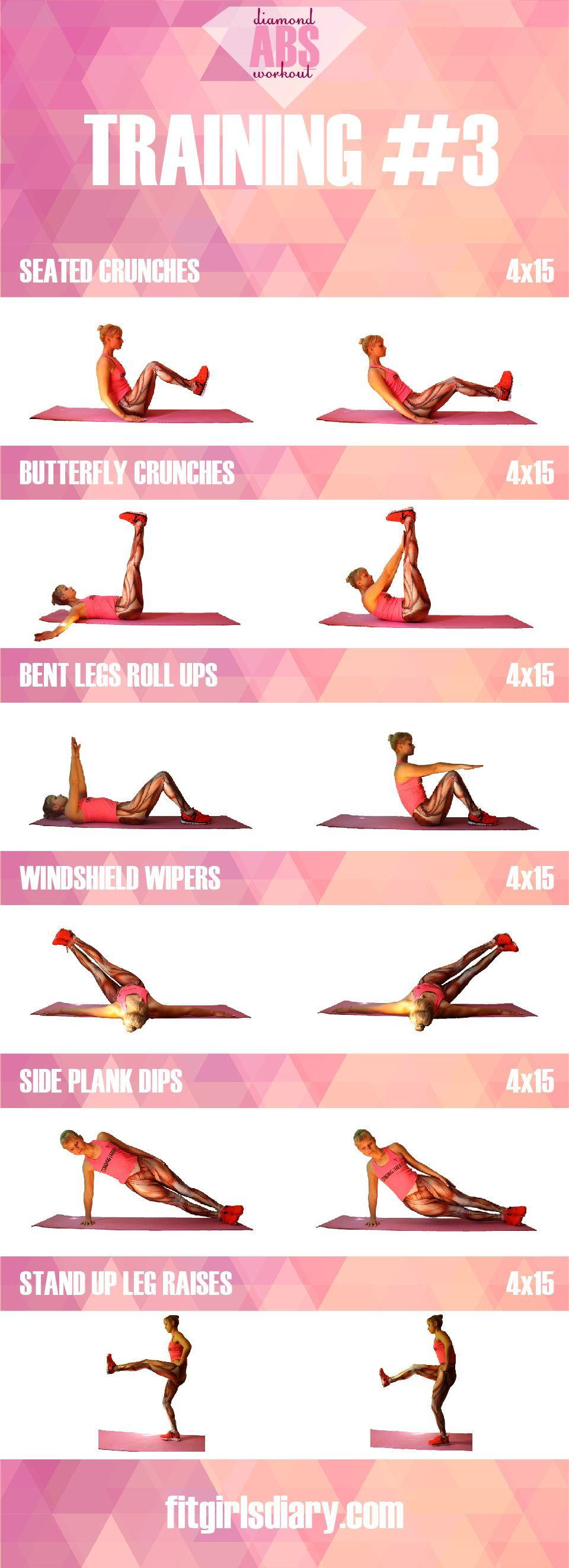 Diamond Abs Workout - Collection Of The Best Ab Exercises for ...