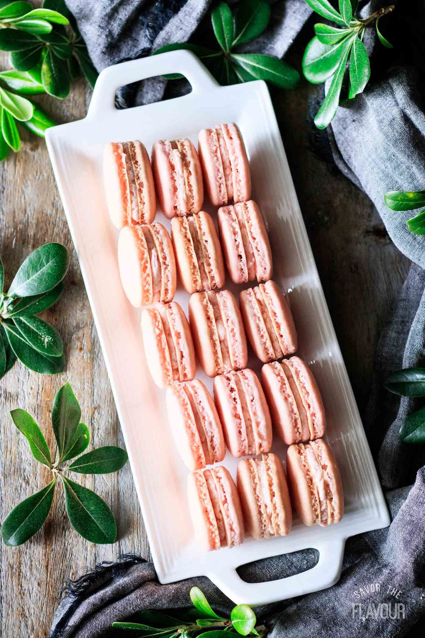 Strawberry Macarons Savor the Flavour Recipe in 2020