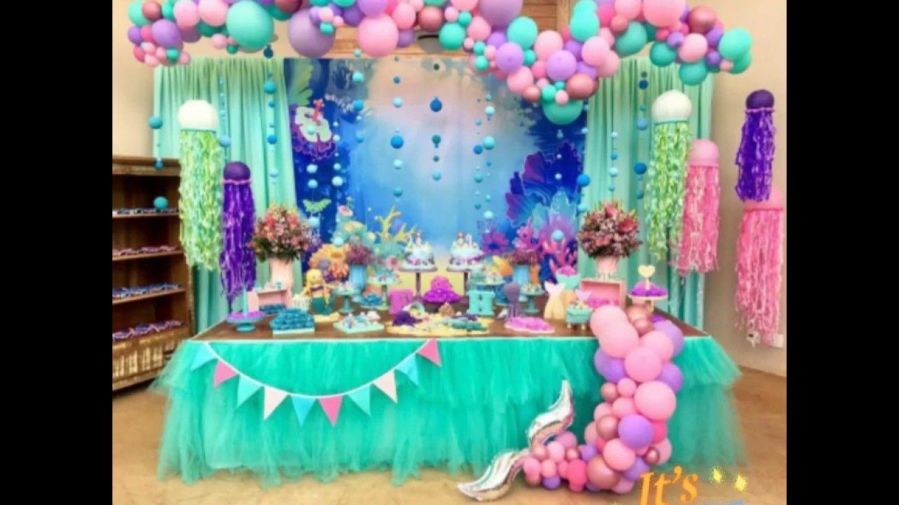 La Sirenita Ideas Para Decorar Tu Fiesta Birthday Party Ideas Decoracion Fiesta Cumpleanos Fiestas De Sirenita Fiesta De Cumpleanos De Sirena