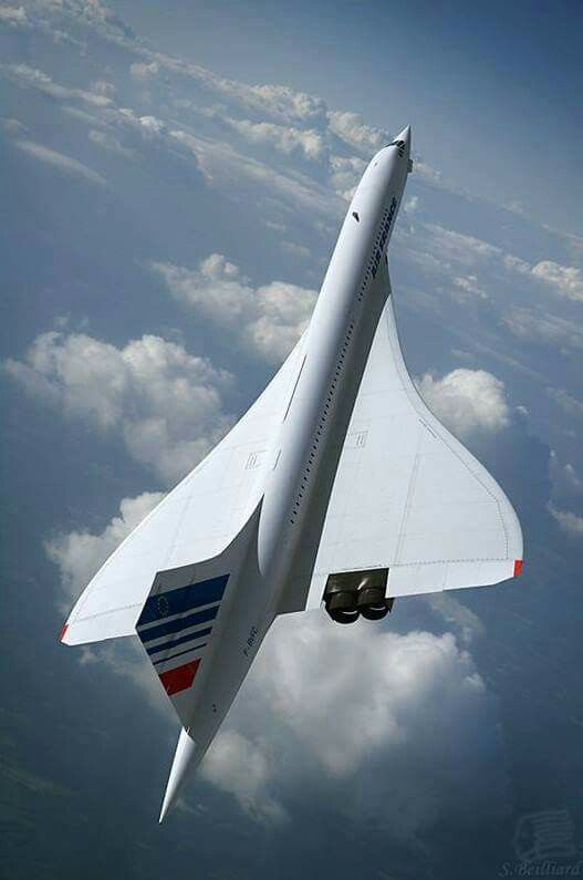 Beautiful Concorde In Flight