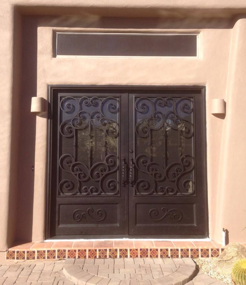 Double Iron Entry Doors Arizona Illuminationco Illumination