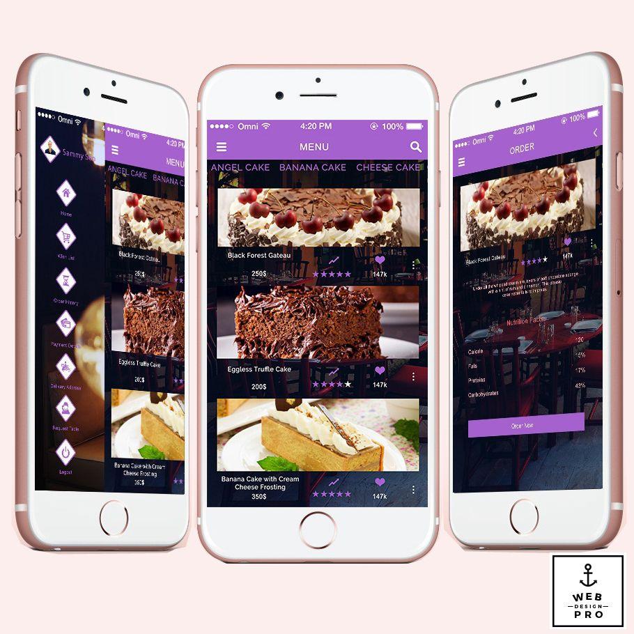 Baking App  Order your favorite cake online through our baking app