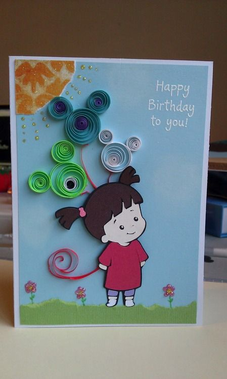 Disney Cards Boo Paper Quilling Cards Disney Cards Cricut Birthday Cards