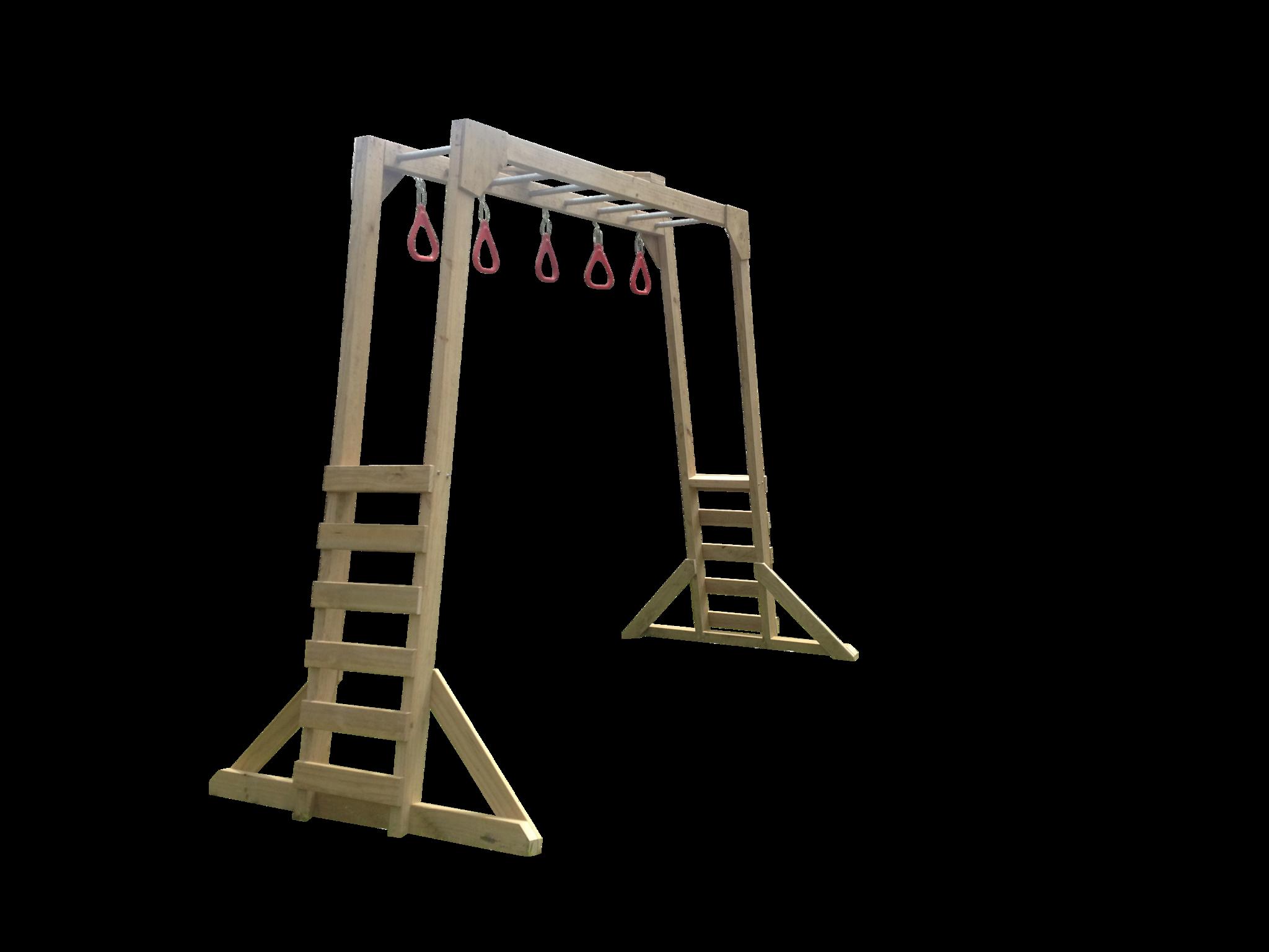 Free Standing Monkey Bars Garden Pinterest Monkey Bar And - Build monkey bars ladder