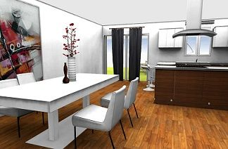 Free 3D Home Design Software  Living Room Rendering, Kitchen Rendering,  Interior Design Ideas