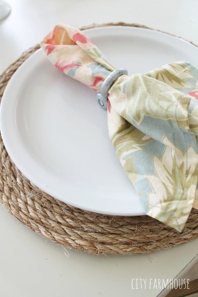 How To Make Round Jute Place Mats Pottery Barn Inspired Pottery Barn Diy