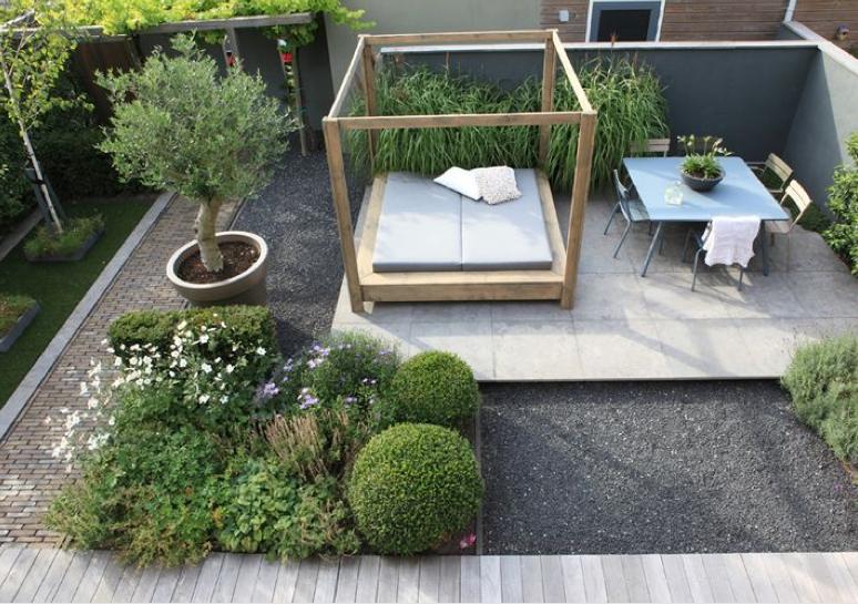 Onderhoudsvriendelijke tuin groen en knus gardening