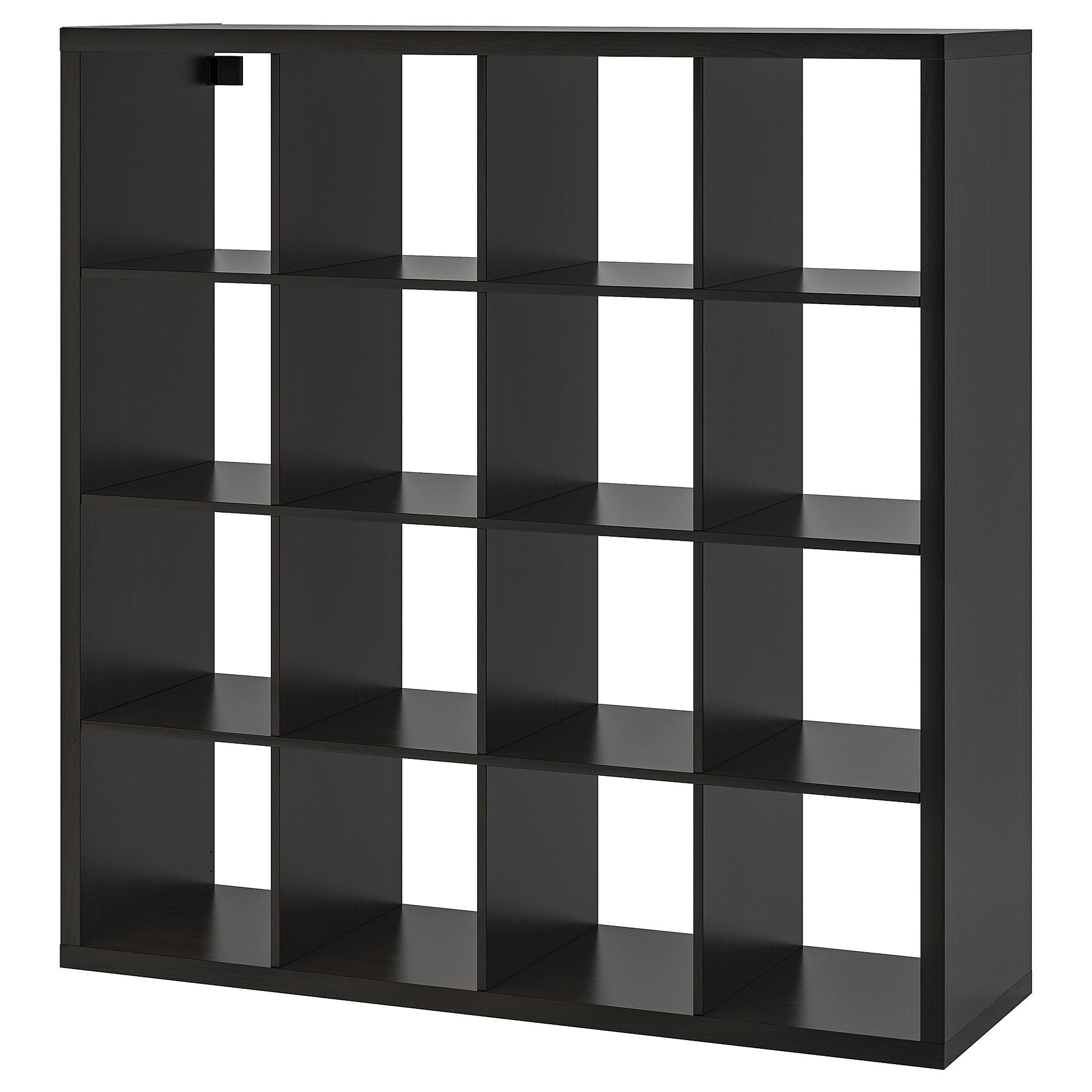 Ikea Kallax Black Brown Shelf Unit Home Decor In 2019