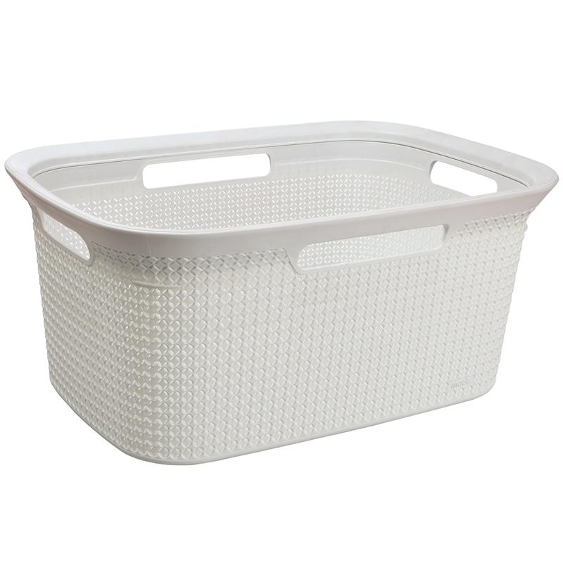 Grey Washing Basket Plastic