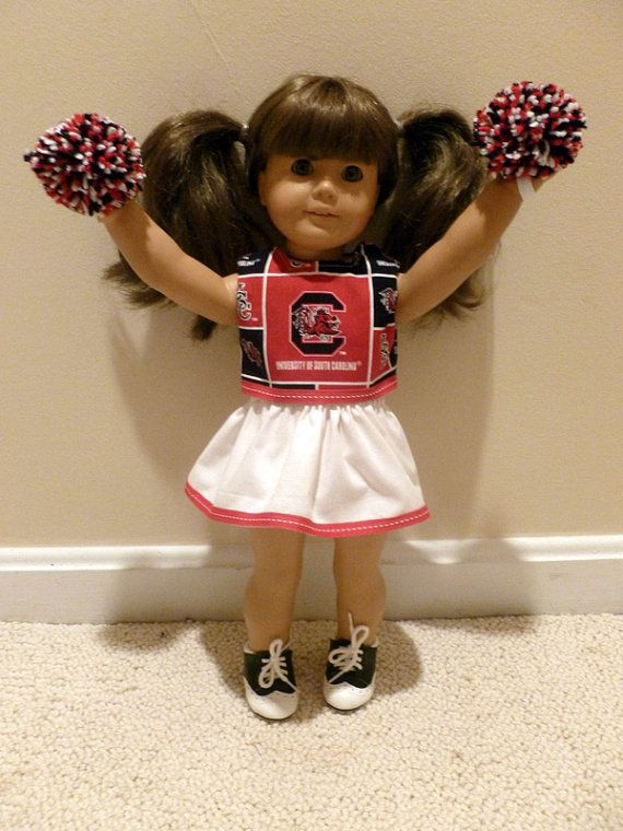 American Girl doll clothes cheerleader USC Gamecocks 18 inch doll football South Carolina #18inchcheerleaderclothes