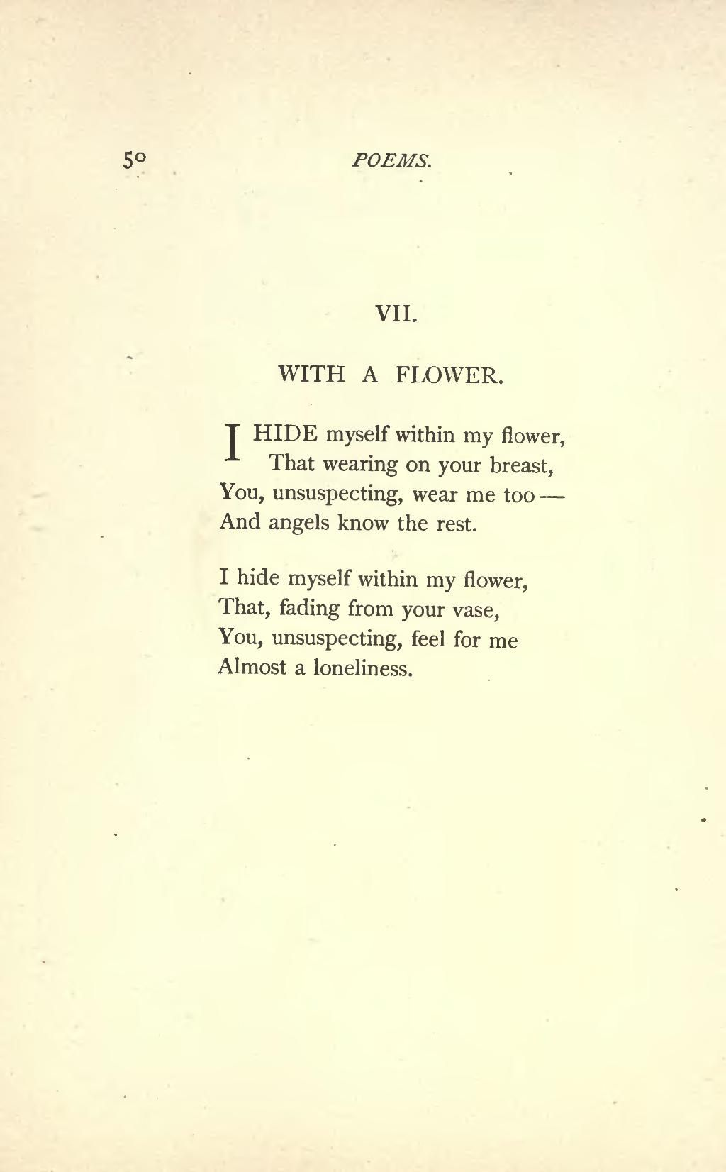 Emily Dickinson Famous Poems