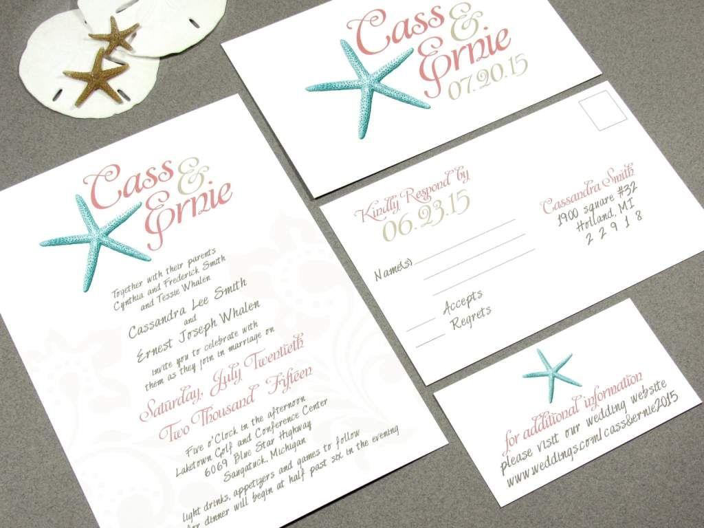 Beach Wedding Invitation Templates For Microsoft Word | wedding ...