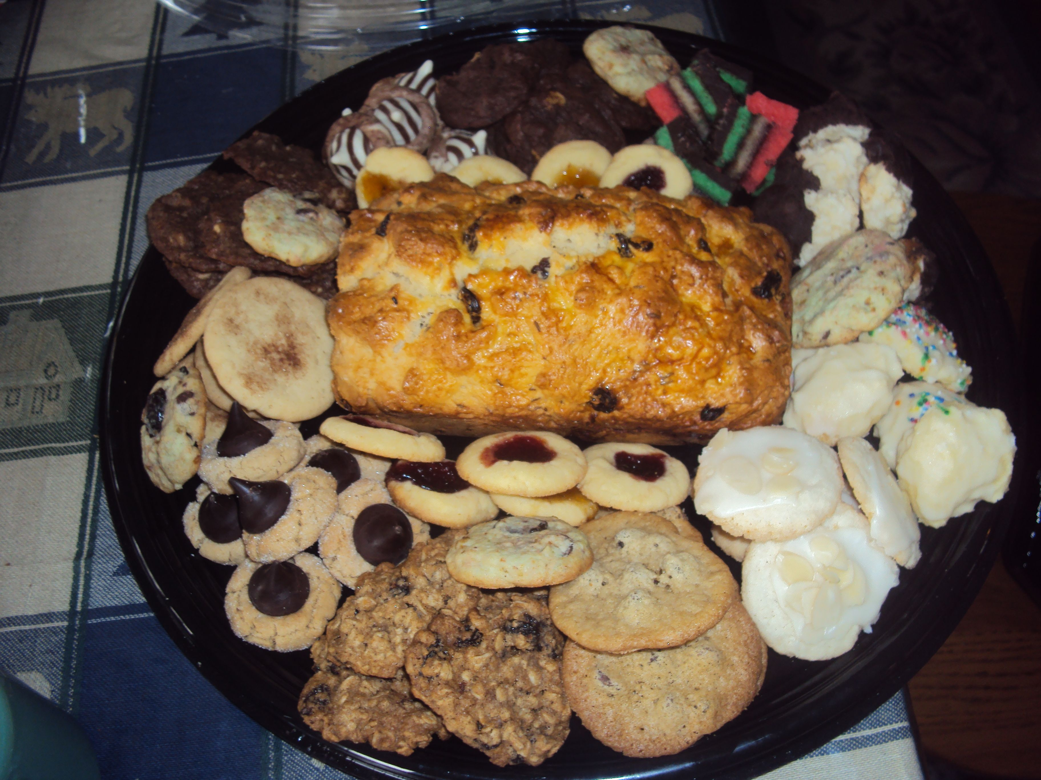 cookie tray with irish bread
