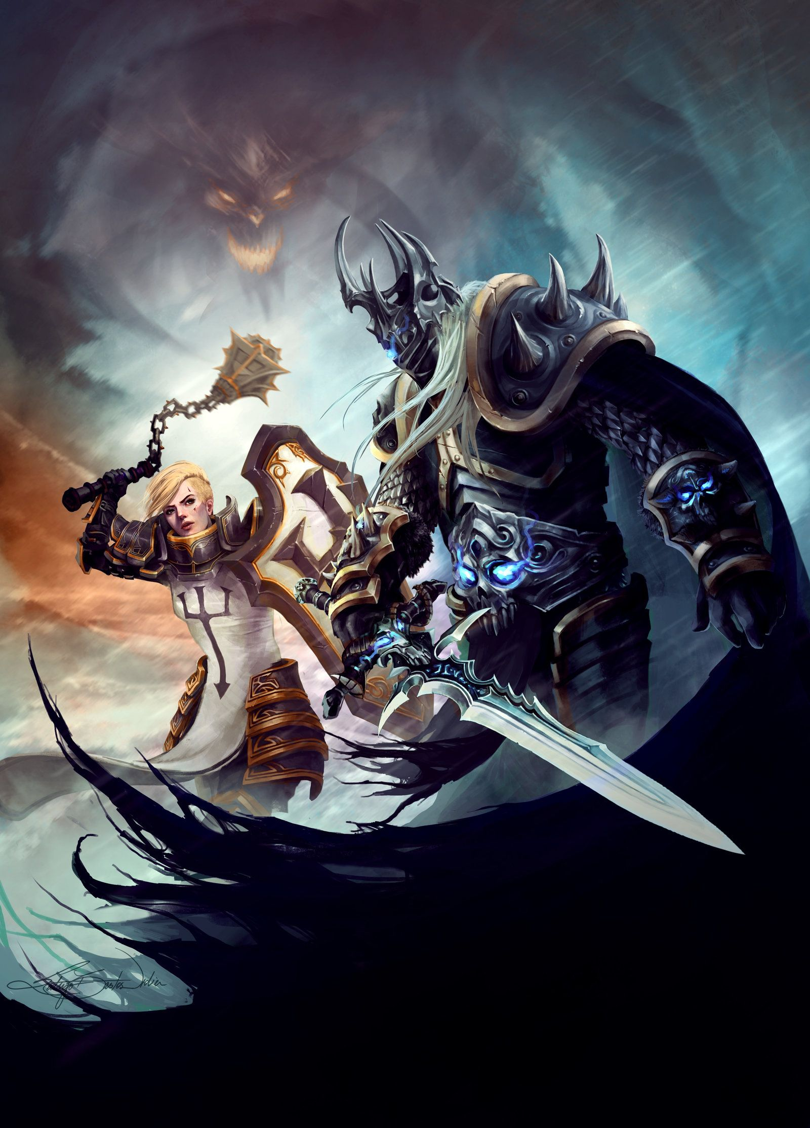 Heroes Of The Storm Johanna And Arthas Heroes Of The Storm Warcraft Art Hero Once the crown prince of lordaeron, and protégé of uther the lightbringer, arthas was corrupted by the cursed blade frostmourne in a bid to save his people. heroes of the storm warcraft art