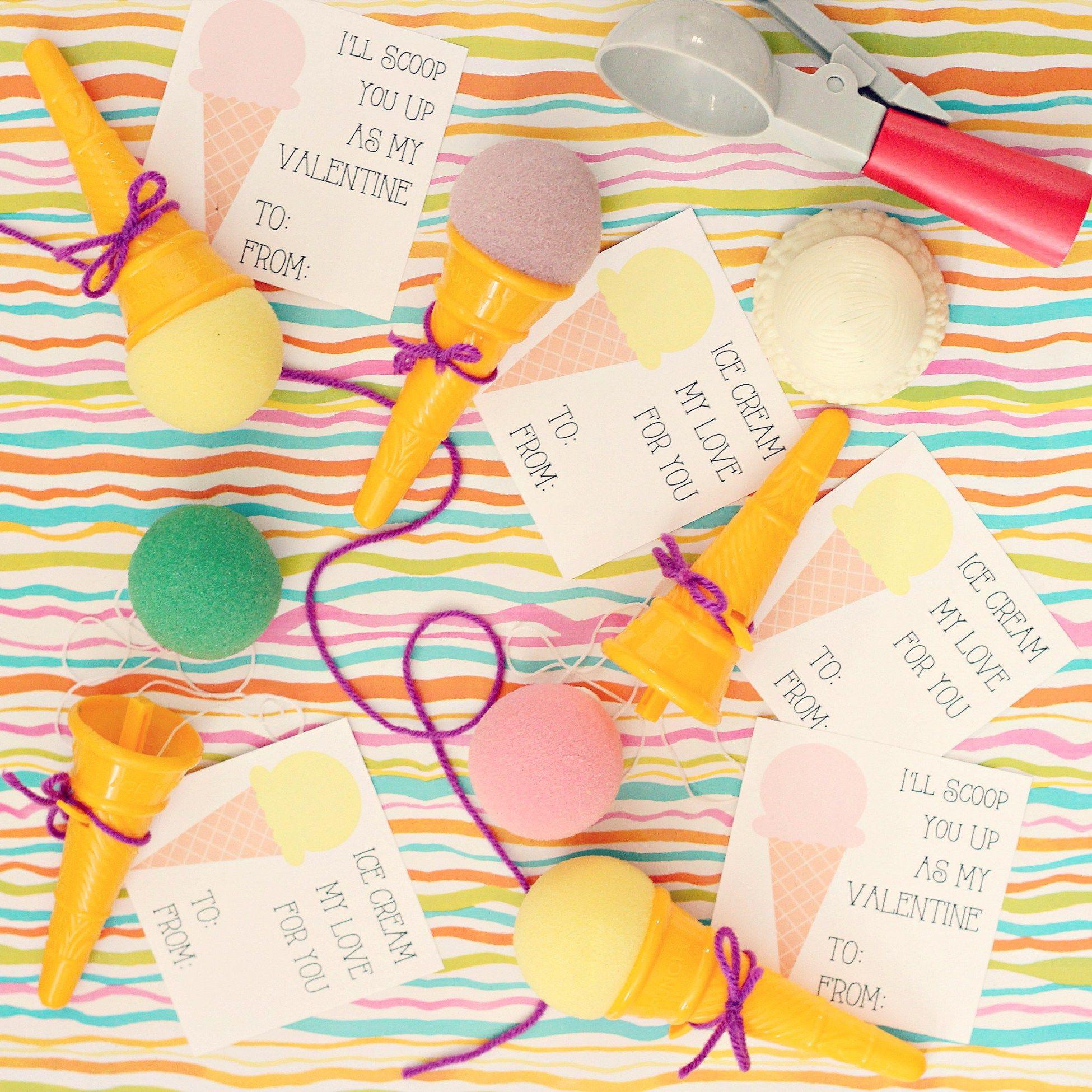 ice cream cone valentines cards