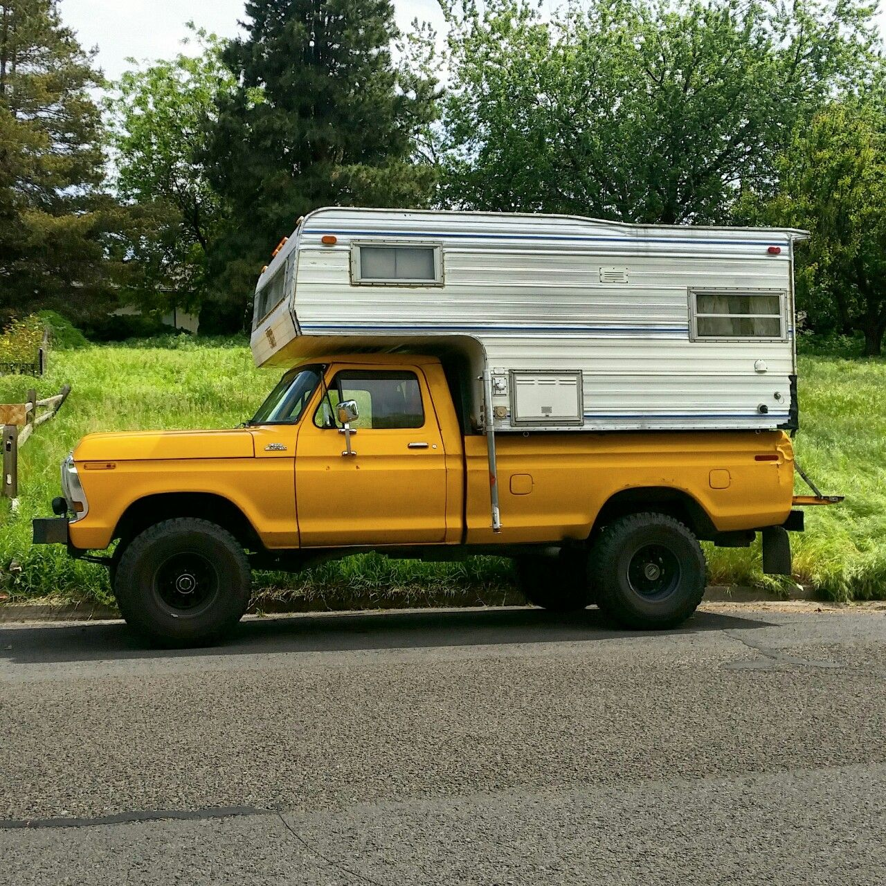 Truck Campers: Rusty-ford: Picked This Slide In Camper Up For 300 Bucks