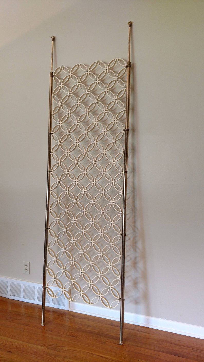 Mid Century Tension Pole Room Divider In 2020