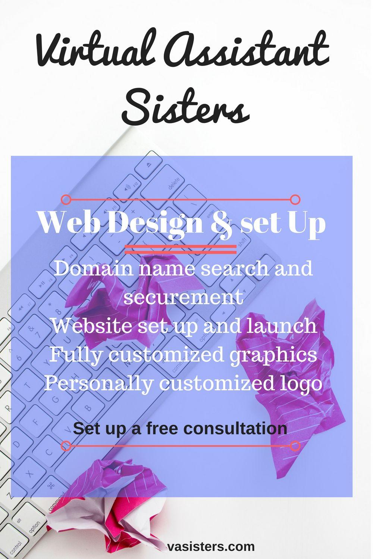 Virtual Assistant Services webdesign logodesign