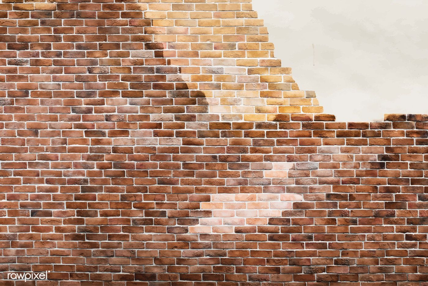 Brown Brick Wall With A Cracked Wall Background Vector Free Image By Rawpixel Com Aom Woraluck Chim Kung P Cracked Wall Wall Background Brick Texture