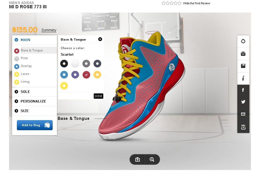 It's free to create your own Adidas shoes