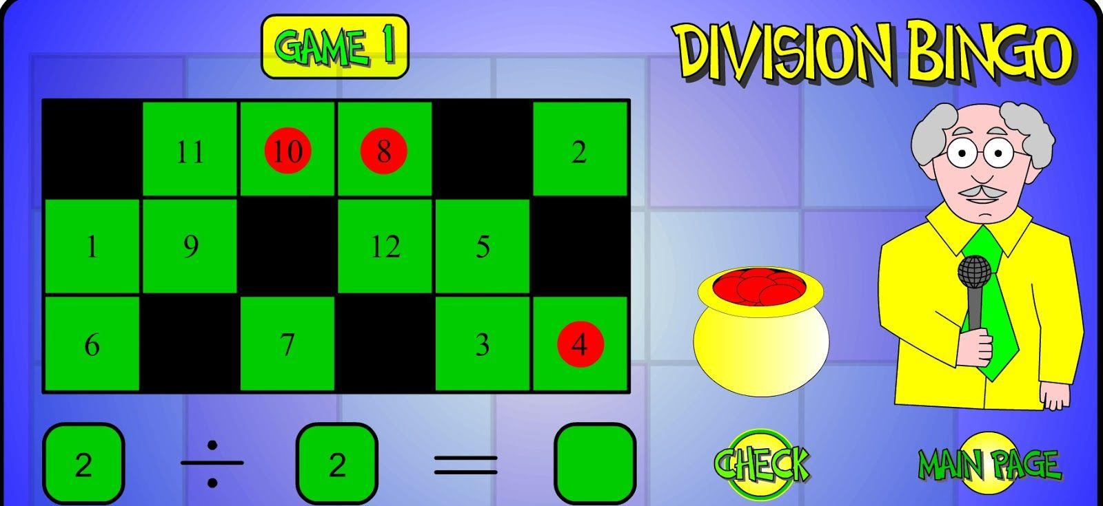 Aprender Investigando Divisiones Por Una Y Dos Cifras Para Tercero Y Cuarto Division Bingo 3rd Grade Math Math Lessons