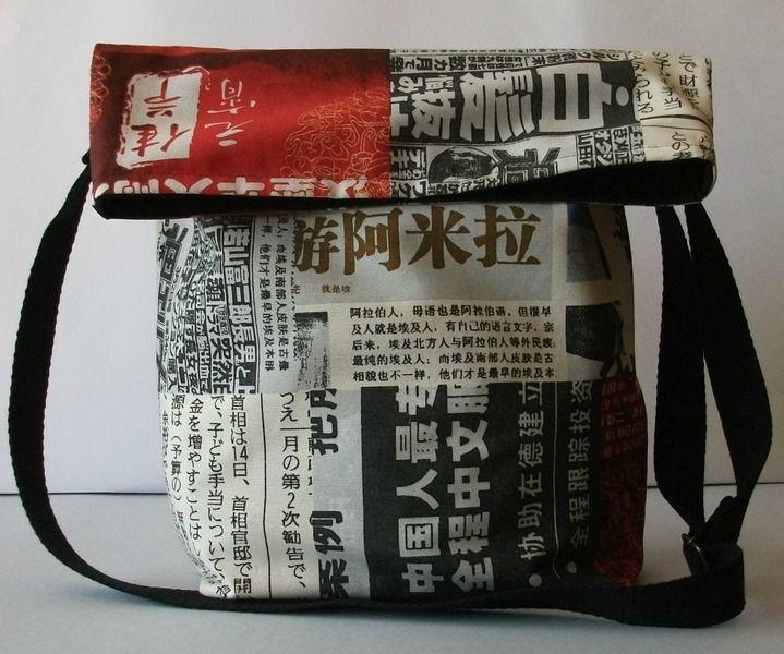 Mujer Chinés por Saco bandolera del Bolso La LoLahn de Handmade T4S1aq