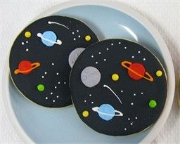 planet /space cookies