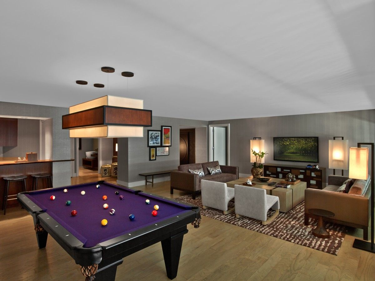 12 Pool Table In Living Room For Billiard Lover Home Decoration
