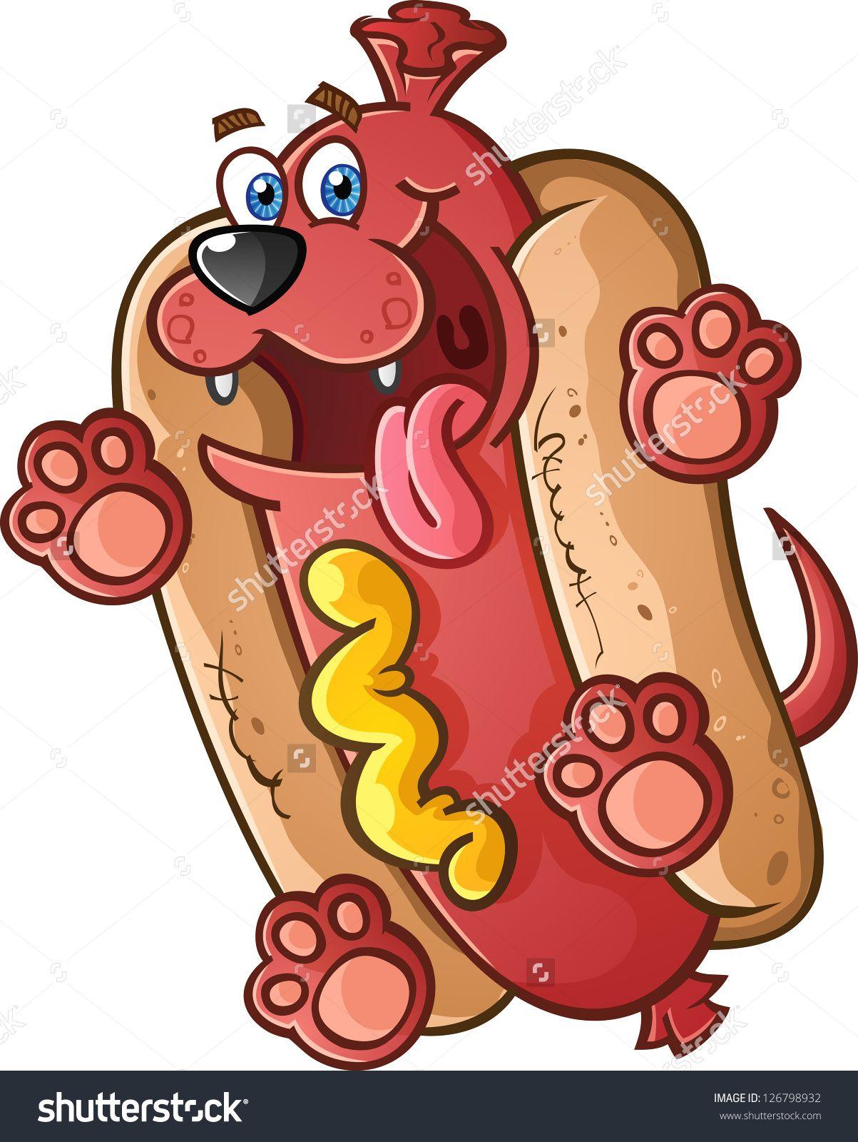stock-vector-hot-dog-pet-cartoon-character-126798932.jpg (1203×1600 ...