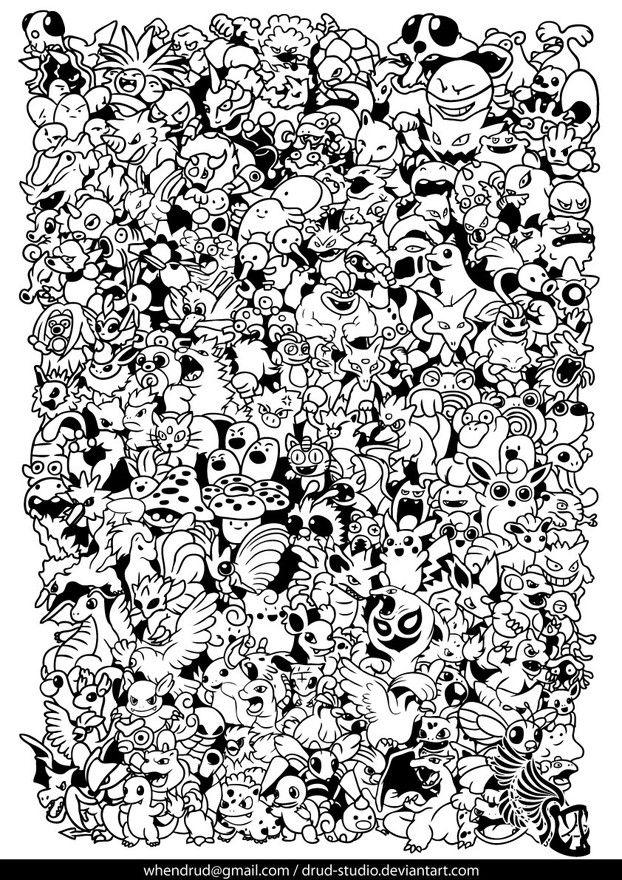 pok mon Fun for kids Pokemon coloring pages Pokemon