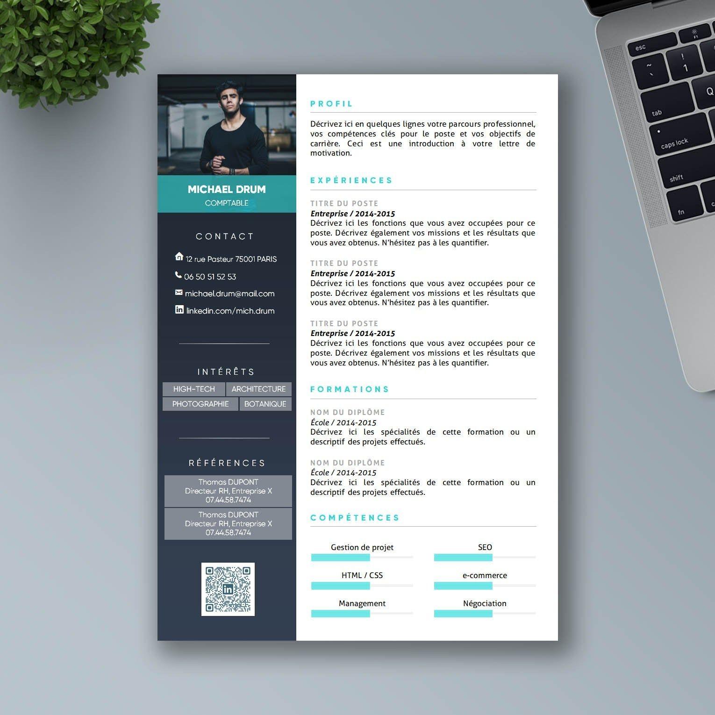 CV Design à télécharger Modèle CV Word Mon Beau CV
