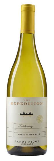 The Expedition Chardonnay by Canoe Ridge Vineyard - smooth, buttery texture with flavors of butterscotch and ripe pear. LOVE.