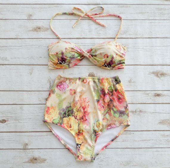 Traje de baño de Bikini de talle alto traje de baño por Bikiniboo