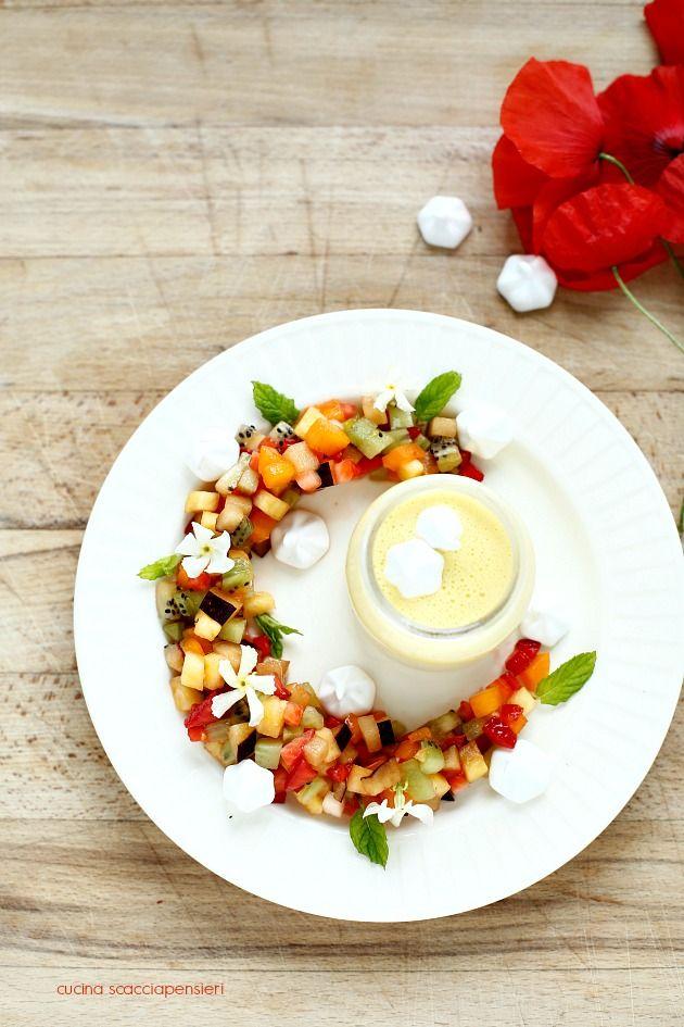 Tartare di frutta con crema inglese al gelsomino per Taste&More n ...