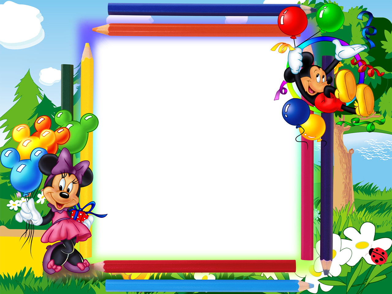 Feed Pictures Cartoon Frames Minnie Mouse 6 Psd 6 Png