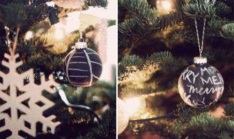 8x Diy Kerstdecoratie : Kerstversiering maken creatief met krijtbord verf kerst