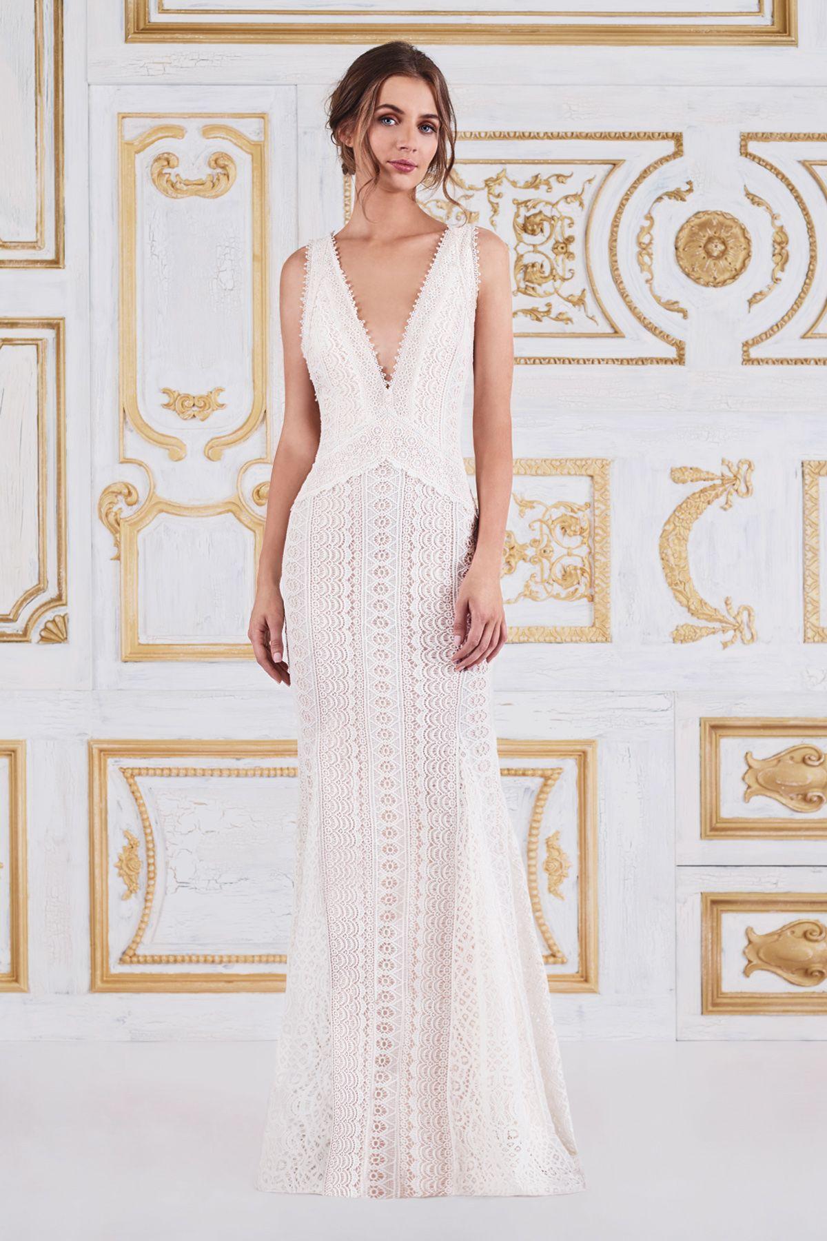 Cadence Gown l Tadashi Shoji | Boho Bride by Tadashi Shoji | Pinterest