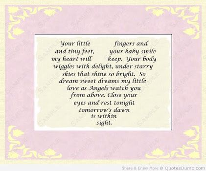 Little Fingers Tiny Feet Baby Poems And Quotes Newborn Baby