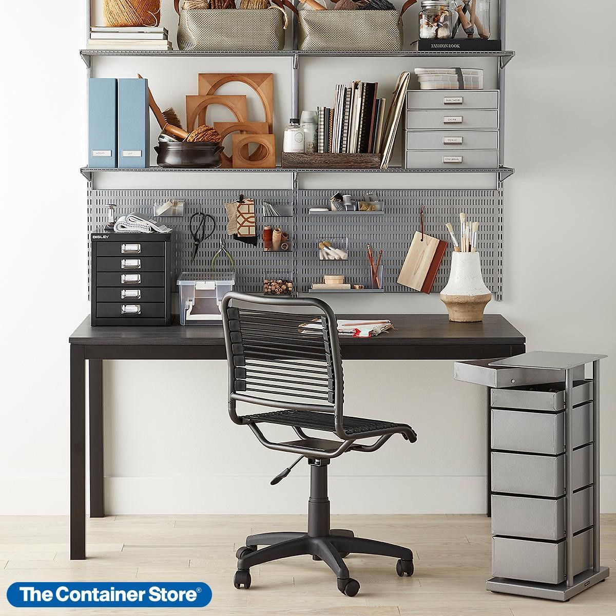 Platinum Elfa Home Office Shelving In 2020 Office Shelving