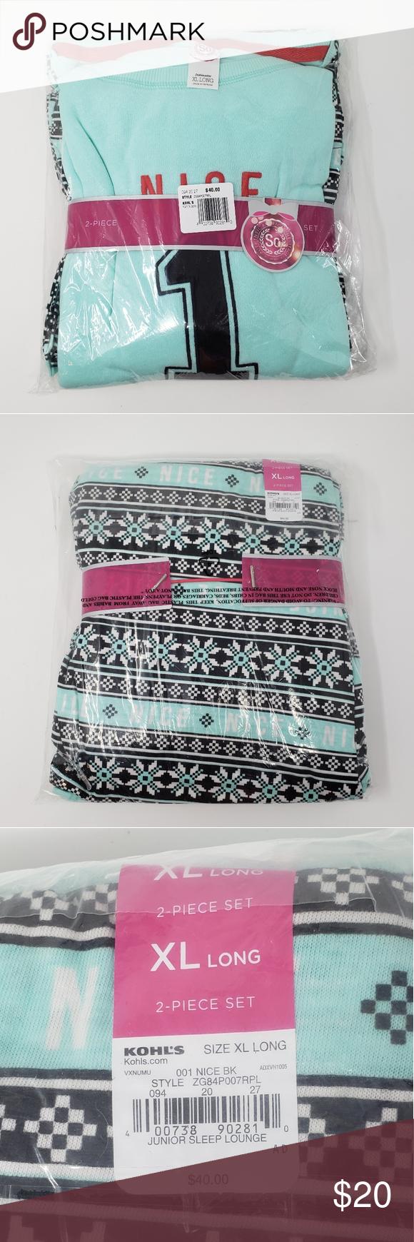 Winter Pajama Set Jr Size XL Long