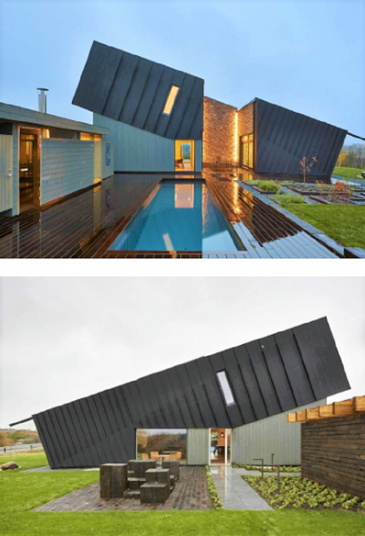 Ingenious Geometric House With Solar Panels In Norway House Projects Architecture Architecture Modern Architecture