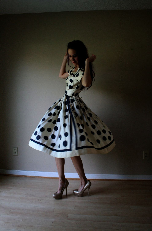 782c902f277 Vintage 1950s Black Tuxedo Party Dress 50s Style Bridal Dress ...