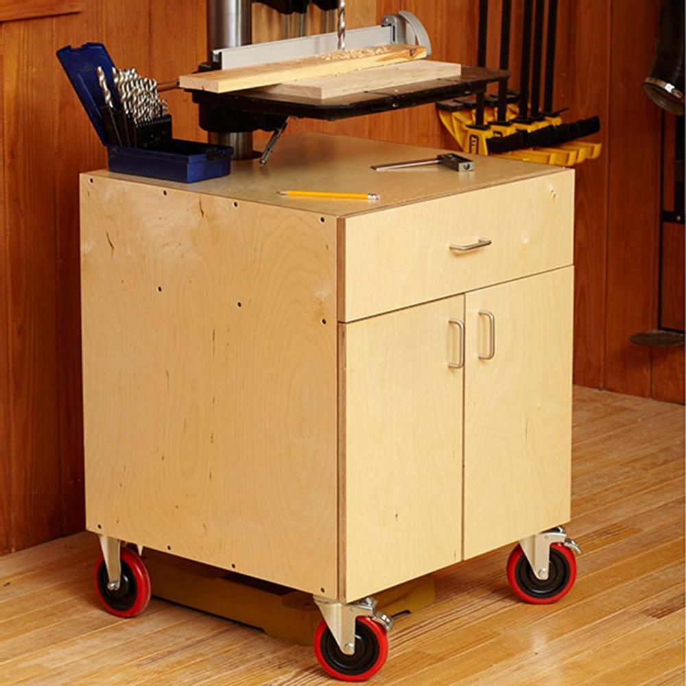 Drillpress cabinet woodworking plan workshop u jigs tool bases