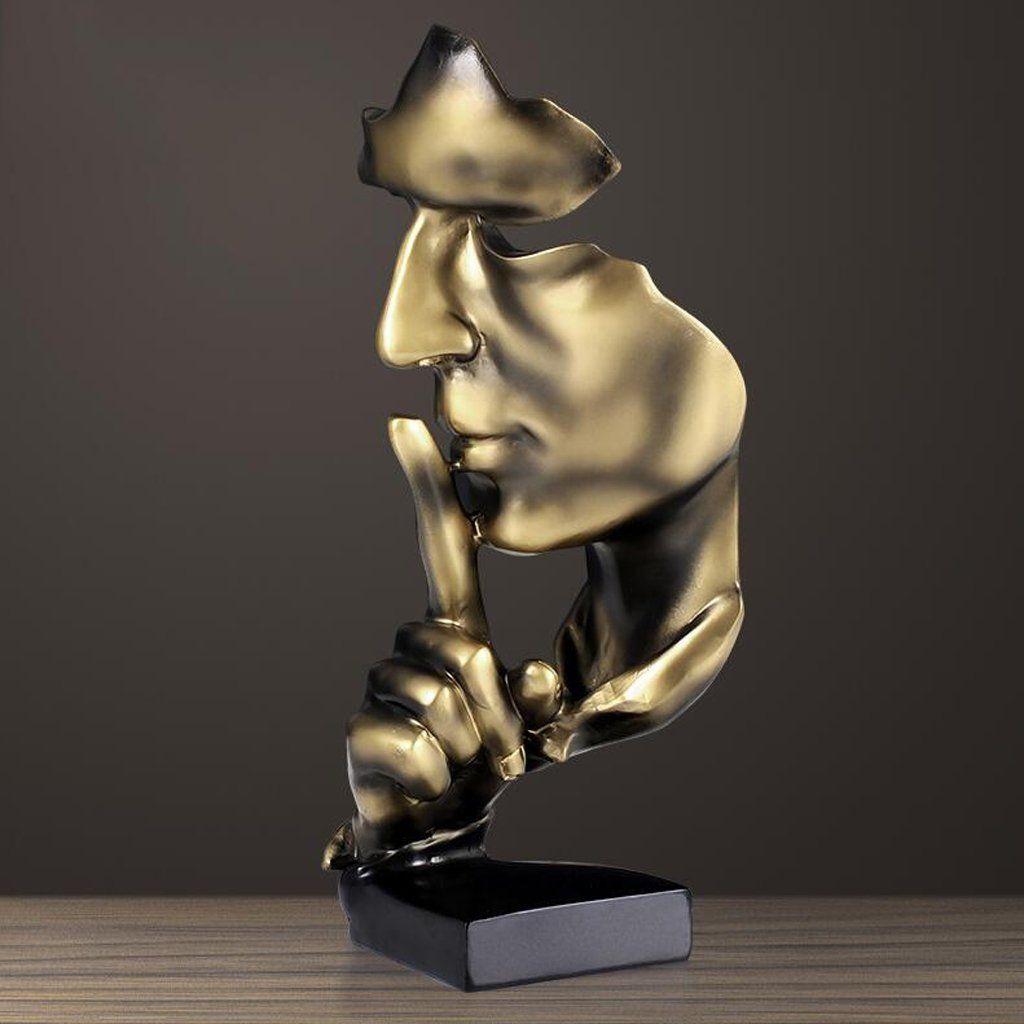 Amazon De Moderne Minimalistische Abstrakte Skulptur Handwerk Dekoration Wohnzimmer Weinschrank Dekoration Wohnzimmer Skulpturen Gold Wohnzimmer