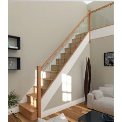 Best Glass Rake Staircase Panel Oak Stairs Staircase Design 400 x 300
