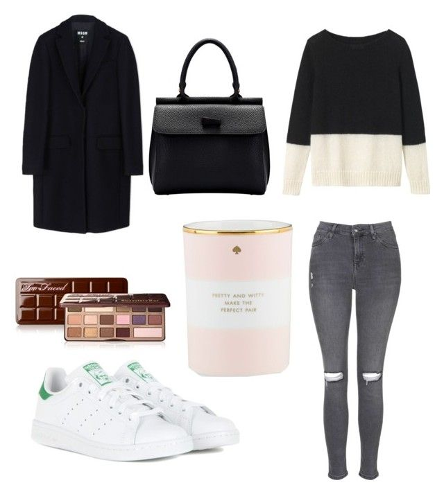 """""""#49"""" by amelie350 ❤ liked on Polyvore featuring adidas, Too Faced Cosmetics, Toast, Kate Spade, Topshop, MSGM, women's clothing, women's fashion, women and female"""