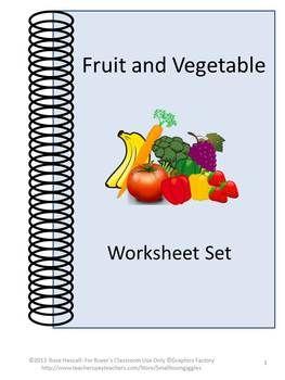 fruits vegetables sorting life skills independent living special education worksheets. Black Bedroom Furniture Sets. Home Design Ideas